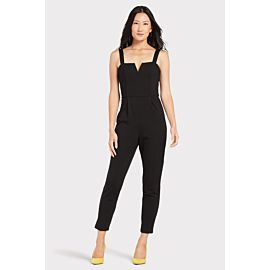 Ponte V Neck Jumpsuit