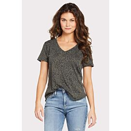 The Leopard V Neck Tee