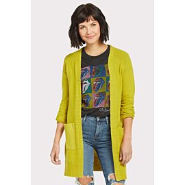Chartreuse Open Cardigan