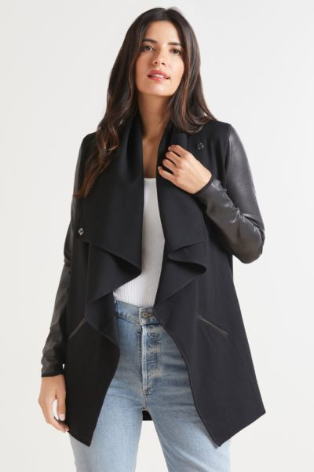 Draped Front Jacket