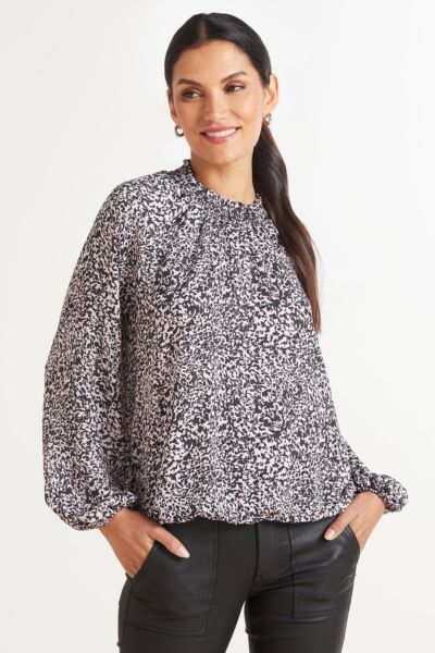 Lilly Smocked Neck Blouse