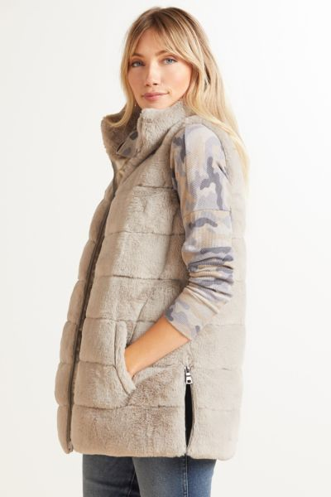 Serena Faux Fur Tunic Vest