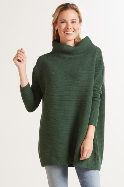 Ottoman Slouchy Tunic Pullover
