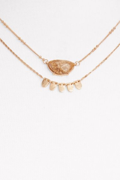 Thirty-nine 42 Bianca Stone Double Tier Necklace