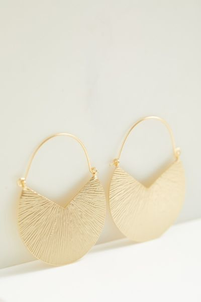 Thirty-nine 42 Ava Textured Hoop Earrings