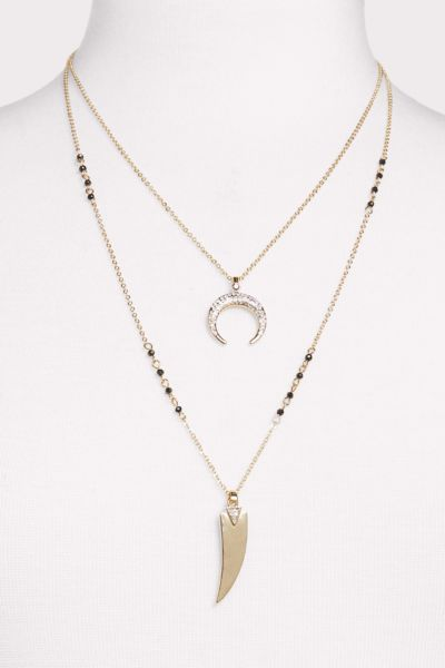 Thirty-nine 42 London Double Strand Crescent Necklace