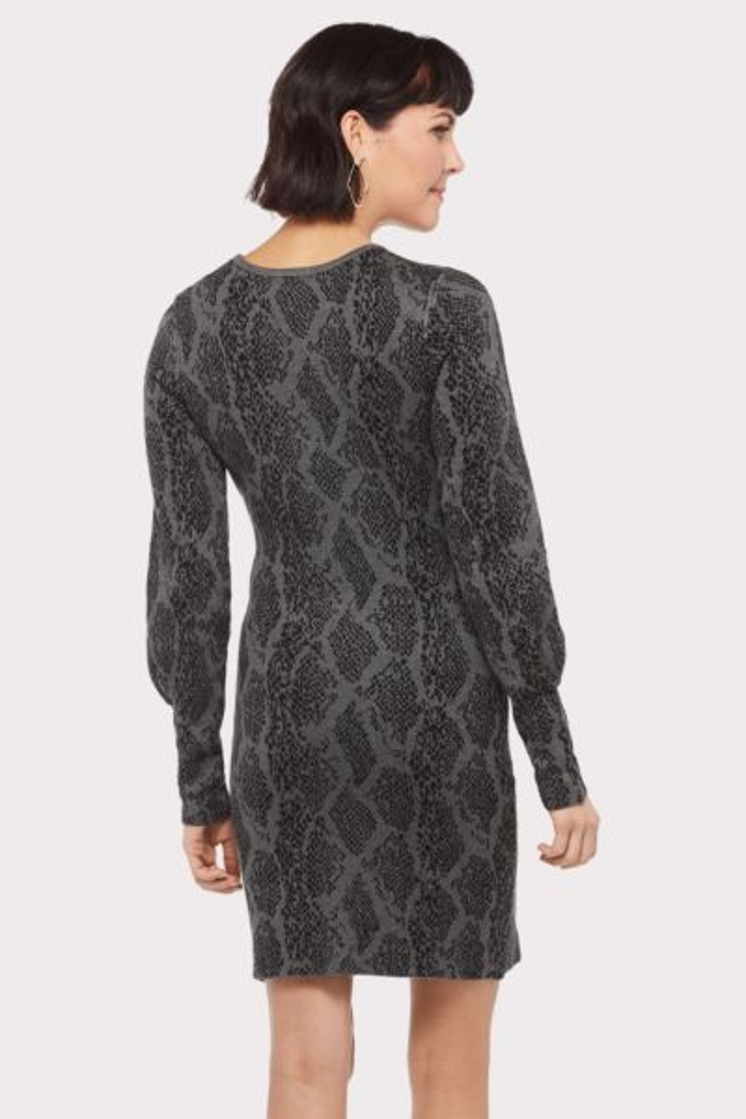 Wayf Audrina Snake Sweater Dress
