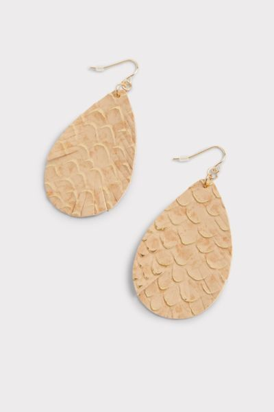 Thirty-nine 42 Zoey Scalloped Leather Earrings