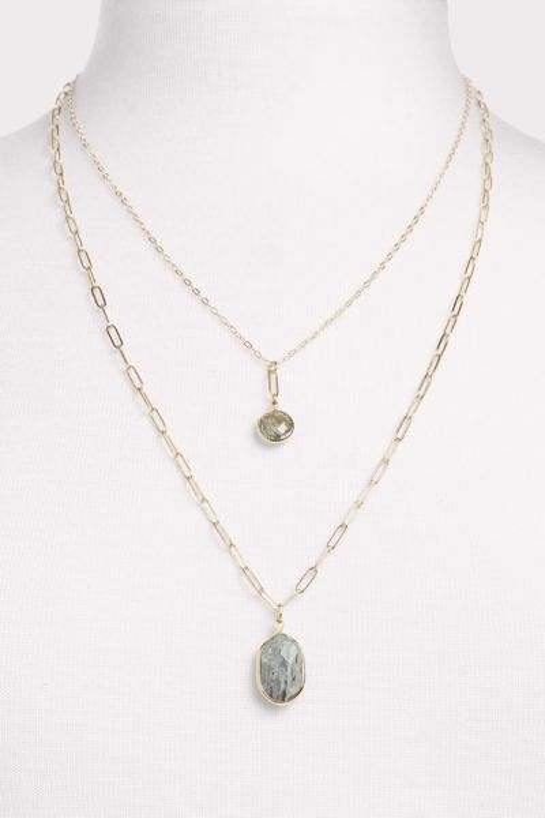 Thirty-nine 42 Lorelei Stone Double Strand Necklace