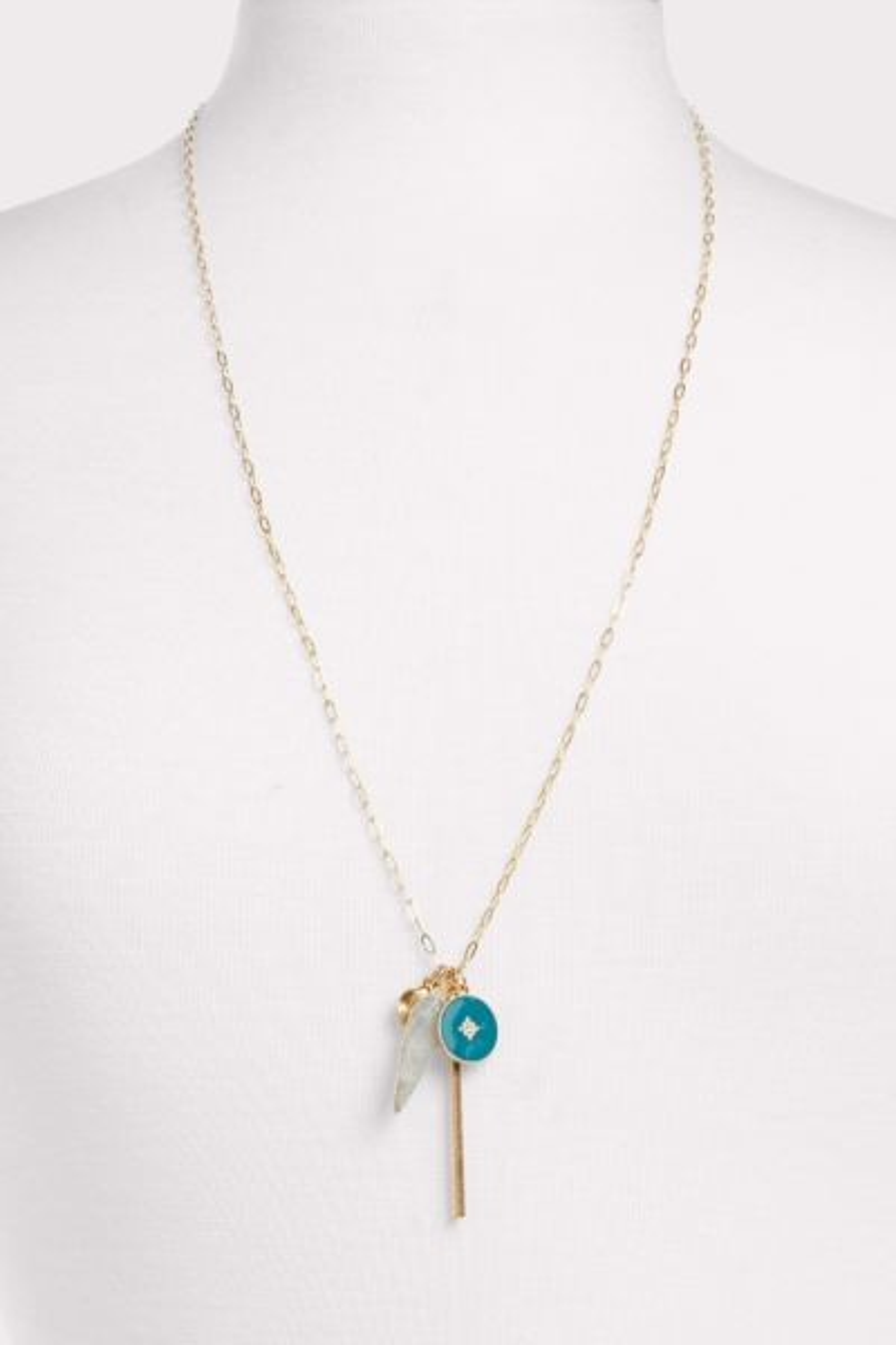 Thirty-nine 42 Tayna Enamel Cluster Necklace