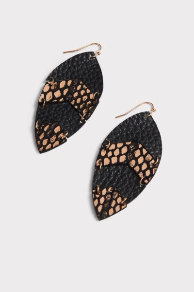 Thirty-nine 42 Andie Leather Snake Tear Drop Earrings
