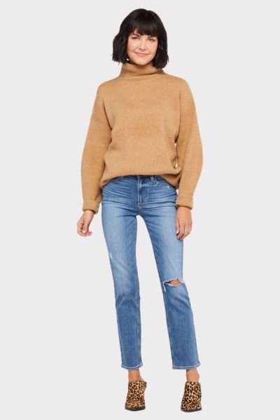 French connection Urban Flossy High Neck Ribbed Sweater
