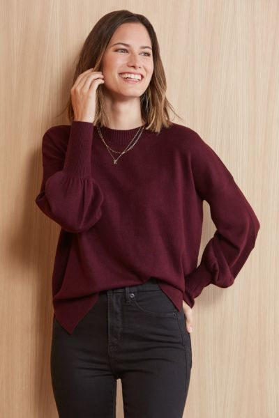 French connection Crew Neck Balloon Pullover