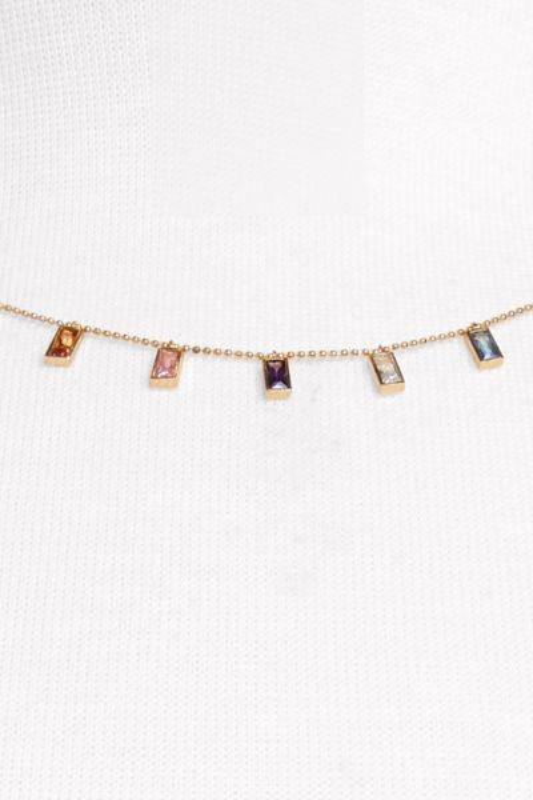 Thirty-nine 42 Rainbow Stone Necklace