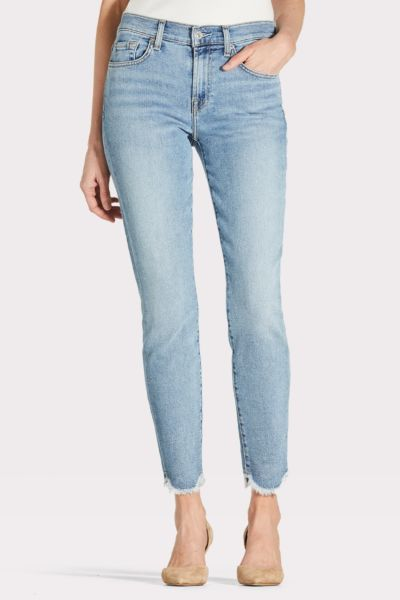 7 for all mankind Ankle Skinny with Scallop Hem