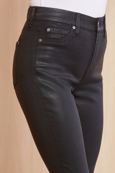 7 for all mankind Coated High Waist Ankle Skinny
