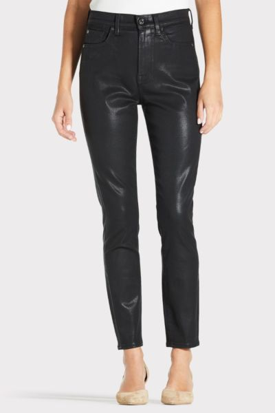 7 for all mankind High Waist Coated Ankle Skinny
