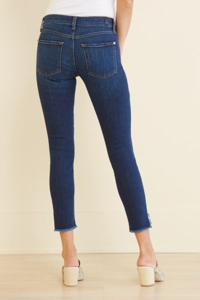 7 for all mankind Ankle Skinny with Wave Hem