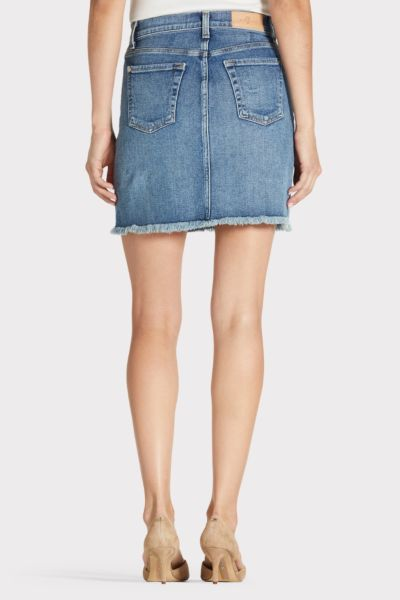 7 for all mankind Luxe Vintage Fray Skirt