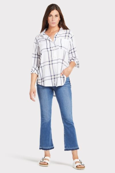 Sanctuary Angeleno Plaid Boyfriend for Life Shirt