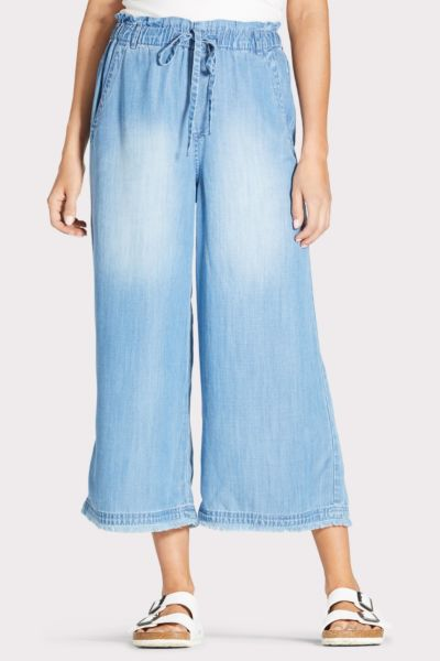 Cloth and stone Cropped Fray Wide Leg Pant