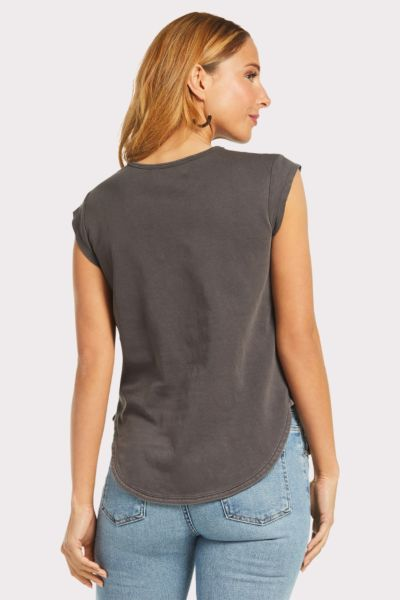 Cloth and stone Seams Cap Sleeve Tee