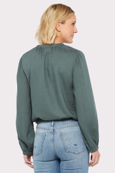 Cloth and stone Elastic Shirred Blouse