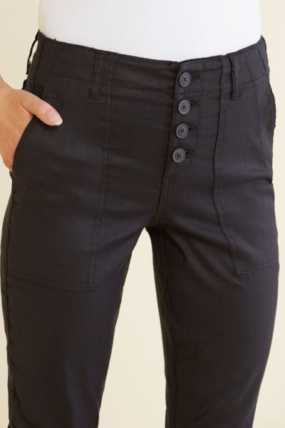 Level 99 Exposed Button Trouser