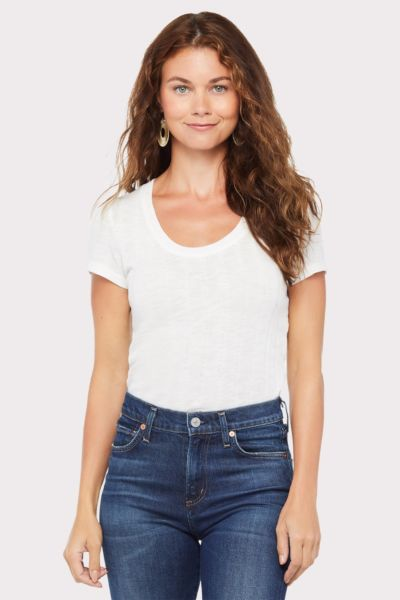 Sanctuary Ribbed Ruby Scoop Tee