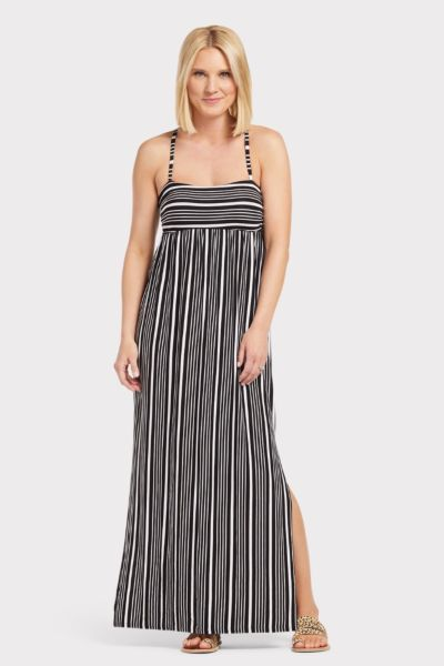 Chaser T Back Ruched Maxi Dress