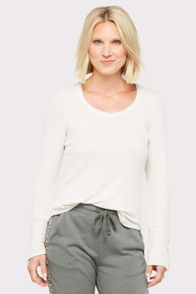 Chaser Thermal Button Cuff Tee