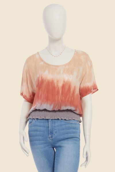 Chaser Tie Dye Smocked Top