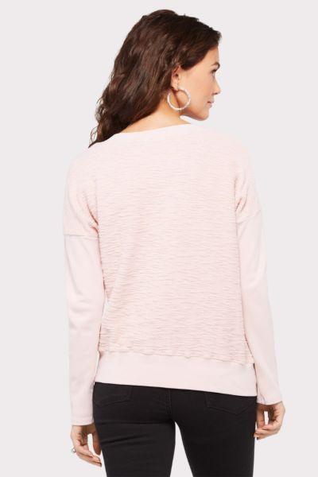 Red haute Asymmetrical Fabric Mix Sweatshirt