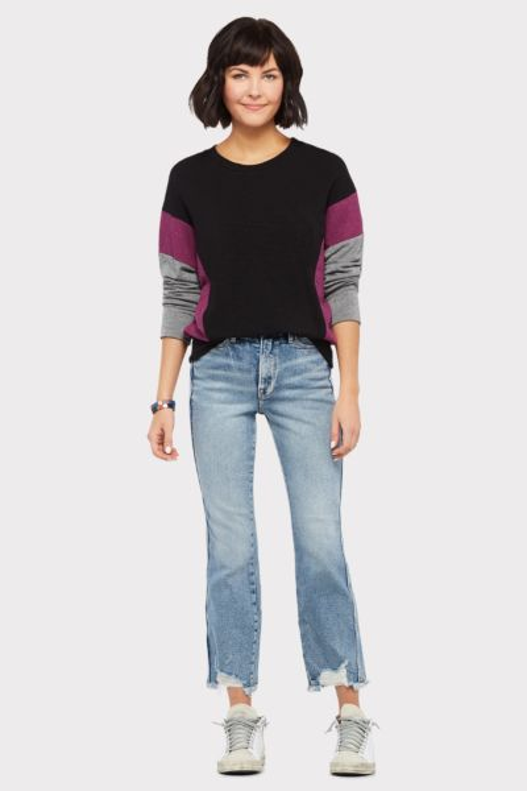 Sundry Colorblock Crew Sweatshirt