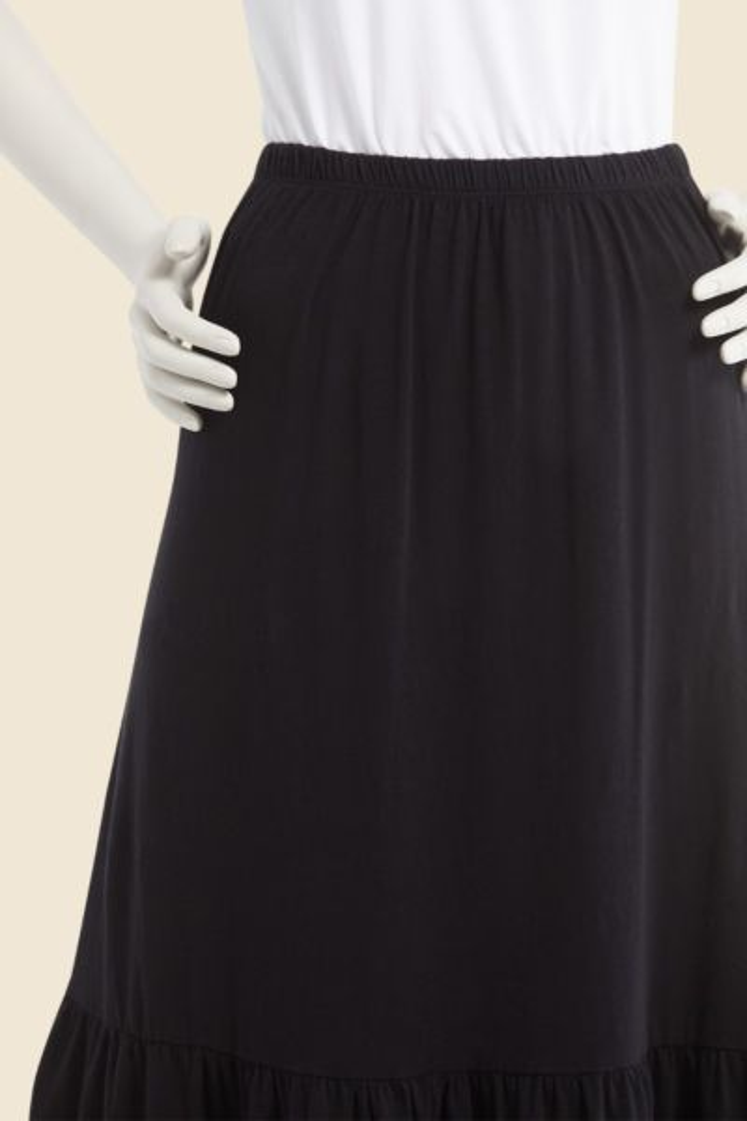 Sundry Tiered Maxi Skirt