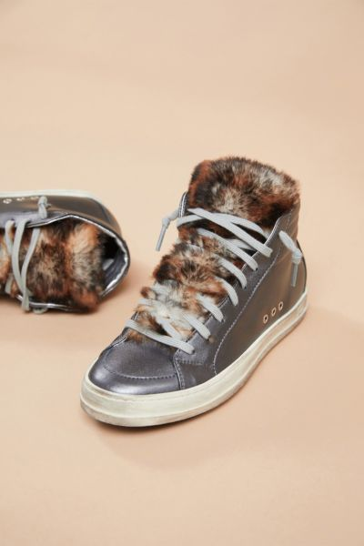 P448 Shearling Tongue High Top Sneaker