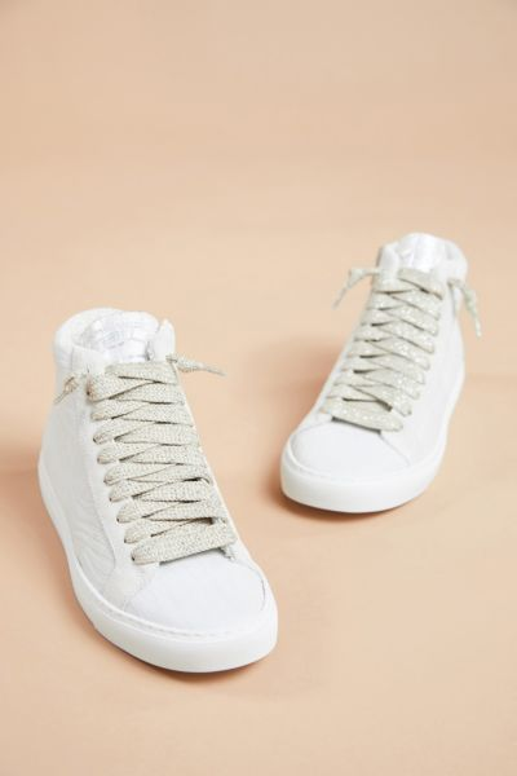 P448 White Zebra High Top Sneaker