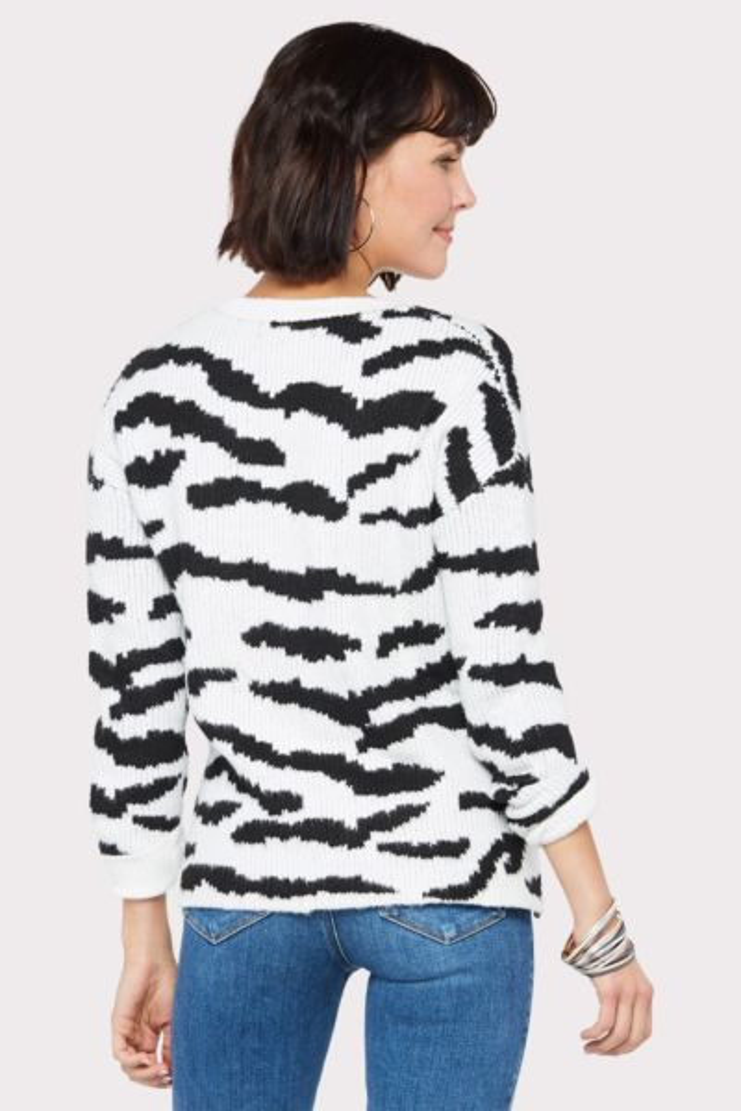 John and jenn Karine Abstract Zebra Pullover