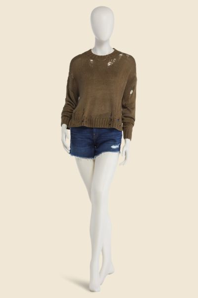 525 america Lily Distressed Pullover