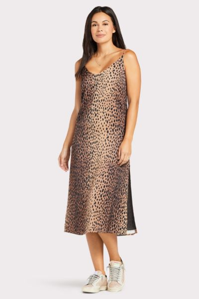 Good american Leopard Slip Dress