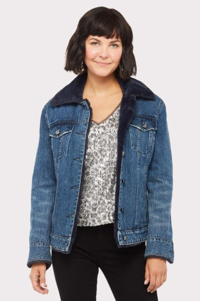 Good american The Fur Lined Jacket