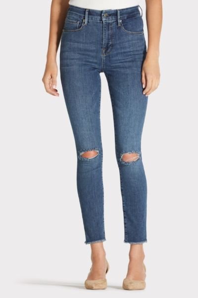 Good american Good Legs Crop Fray Hem