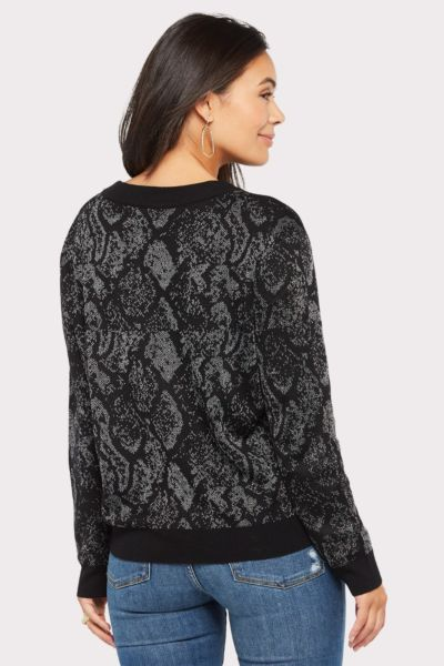 John and jenn Carlos Snake Sparkle Sweater