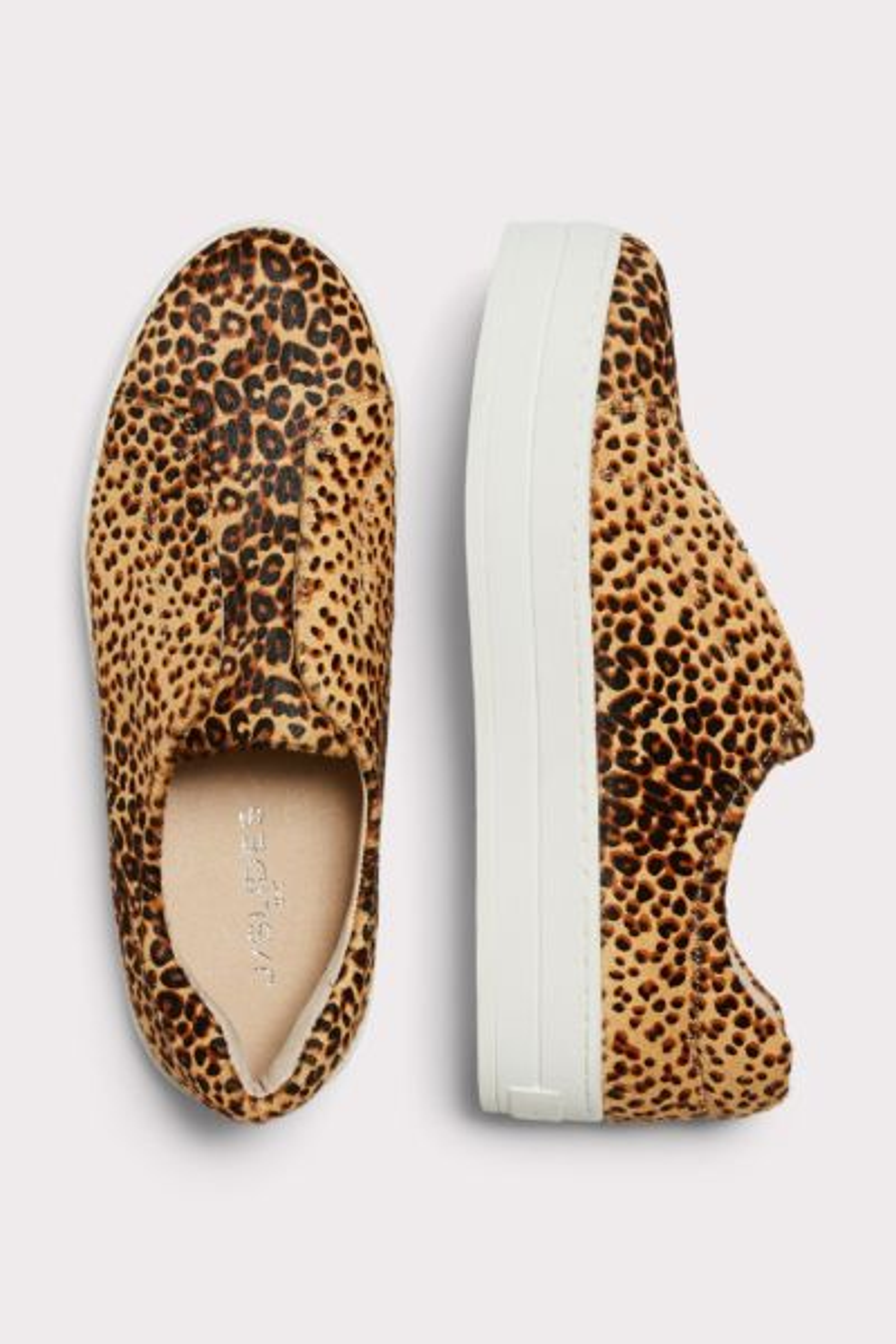 J/slides Heidi Leopard Calf Hair Sneaker