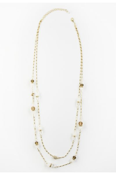 Harriet isles Double Strand Crystal Necklace
