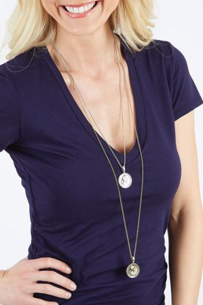 Excelsior Double Tier Coin Necklace