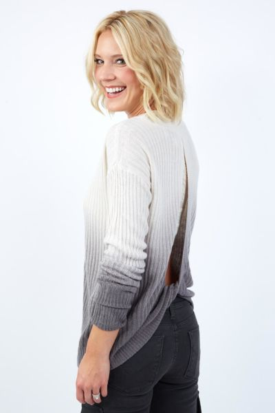 Vintage havana Cozy Open Back Sweater