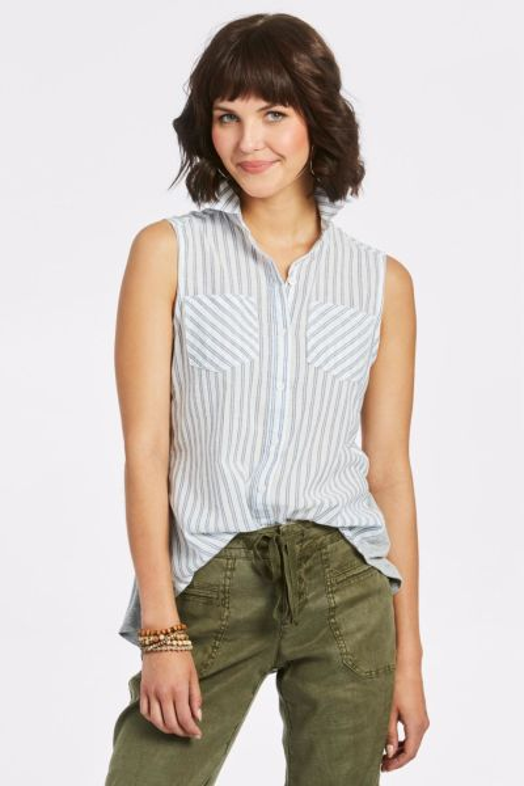 Allison joy Willa Knit Back Shirt