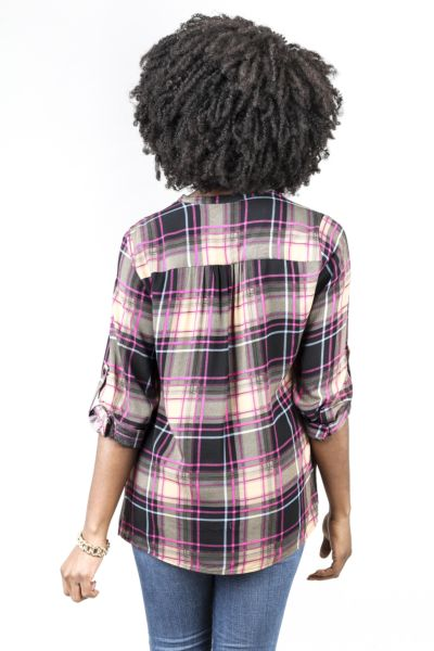 Allison joy Lady Plaid Top