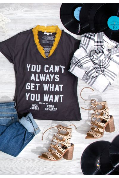 Junk food 'You Can't Always Get What You Want' Tee